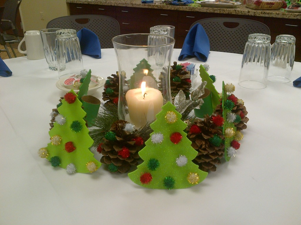 Decorations we made for our Christmas reception.
