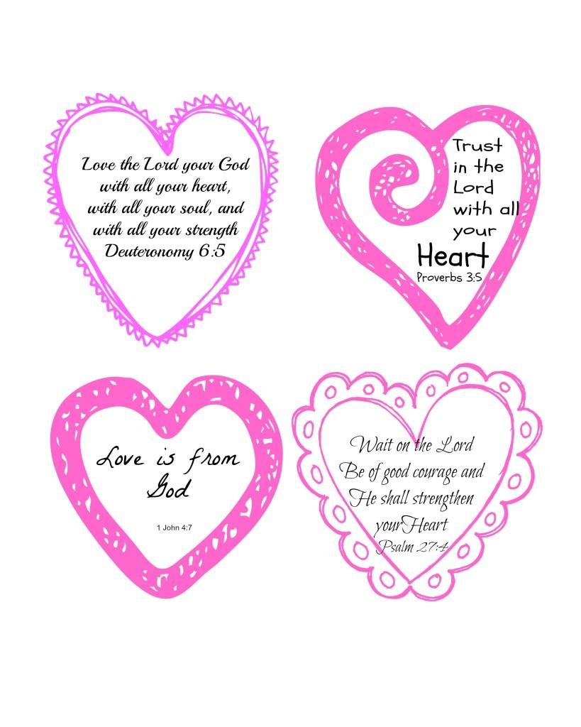 Love Scripture Hearts