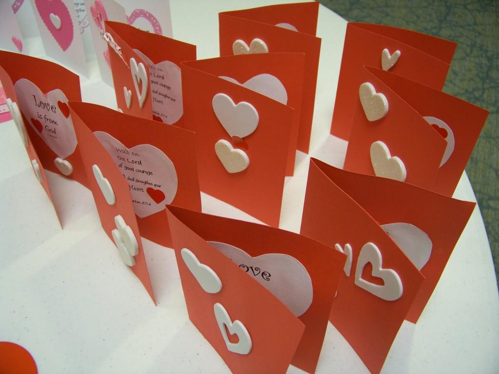 Valentine card showing scripture