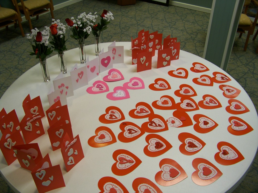 Valentines that were given away.