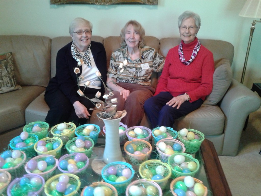 Easter Egg Baskets that were given away.