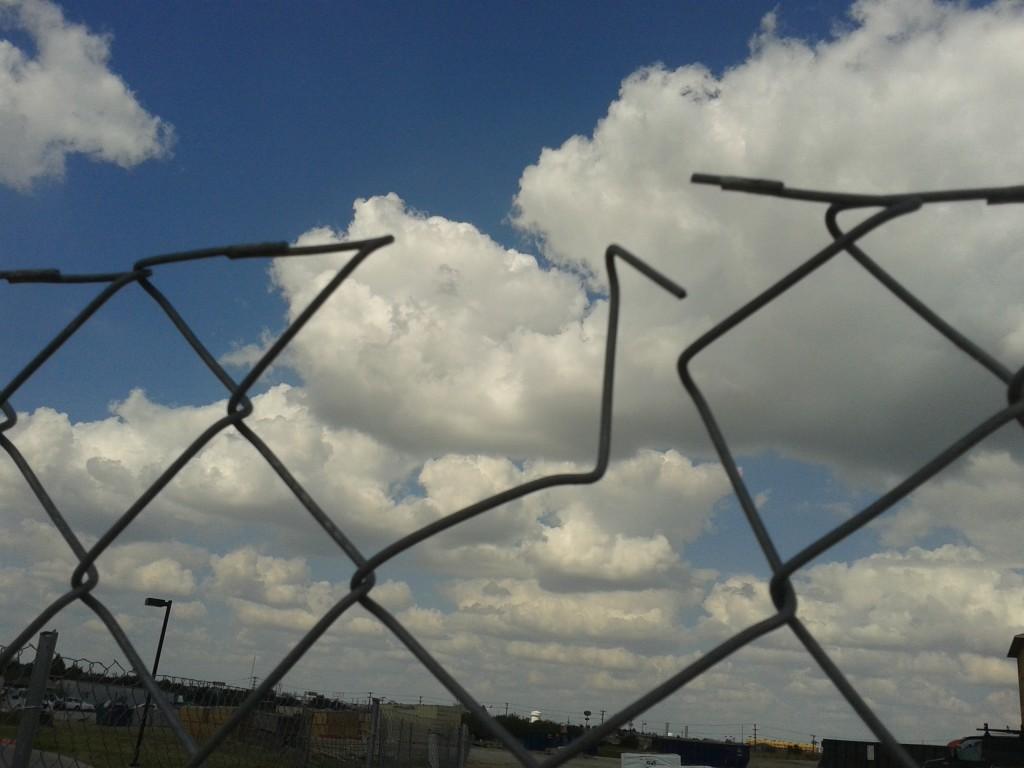 chain link fence broken