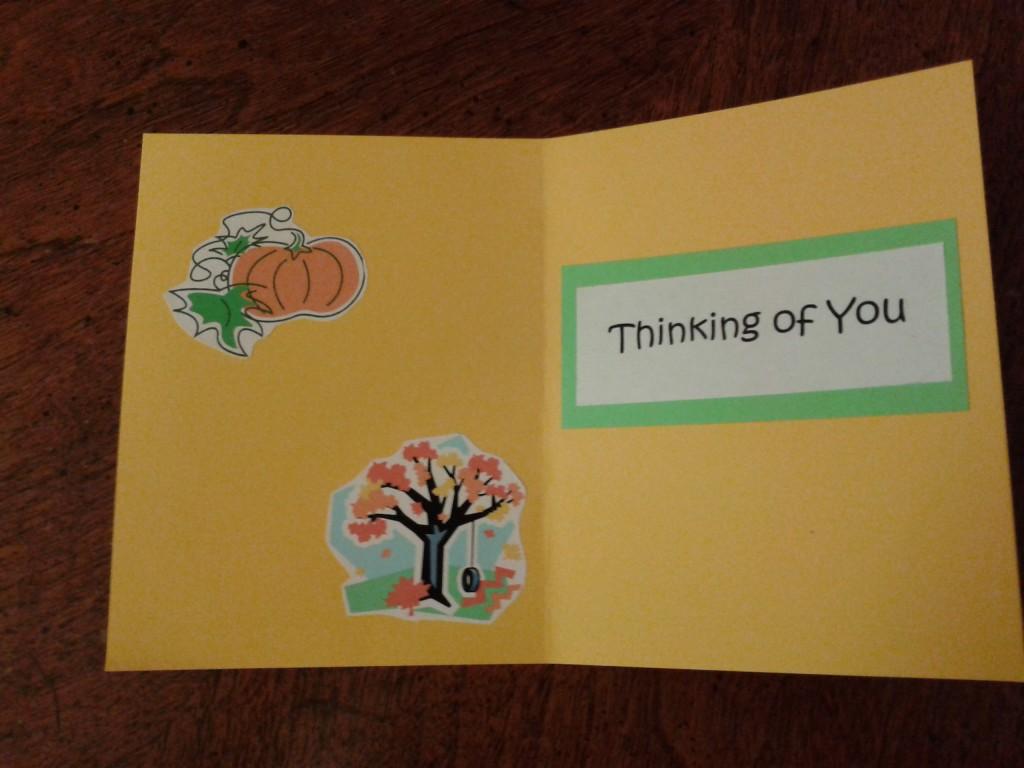 Fall card inside