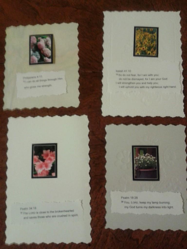 Repurposed cards back