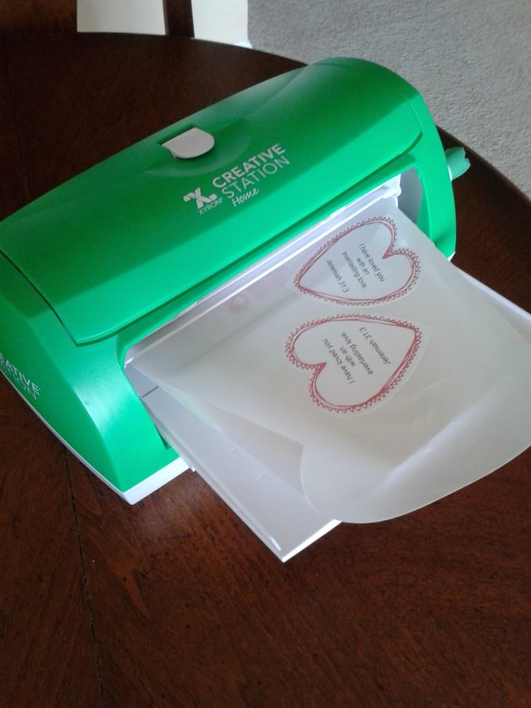 Valentine sticker machine