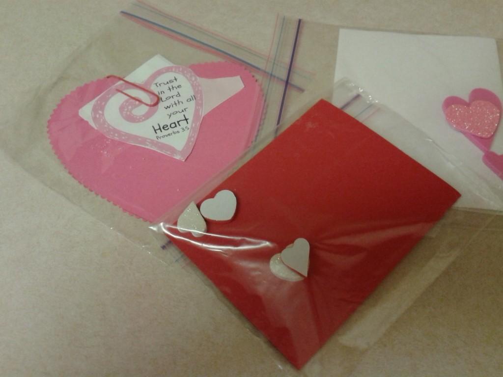 Valentines in baggies