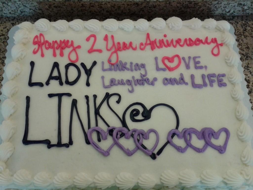 Lady-Links Anniversary Cake