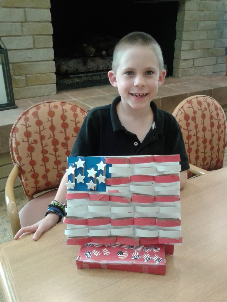 Flag craft with K
