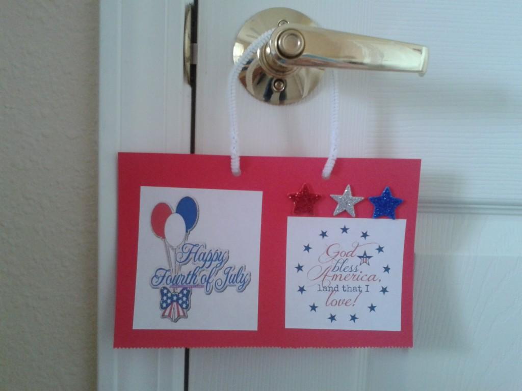 4th door hanger on door