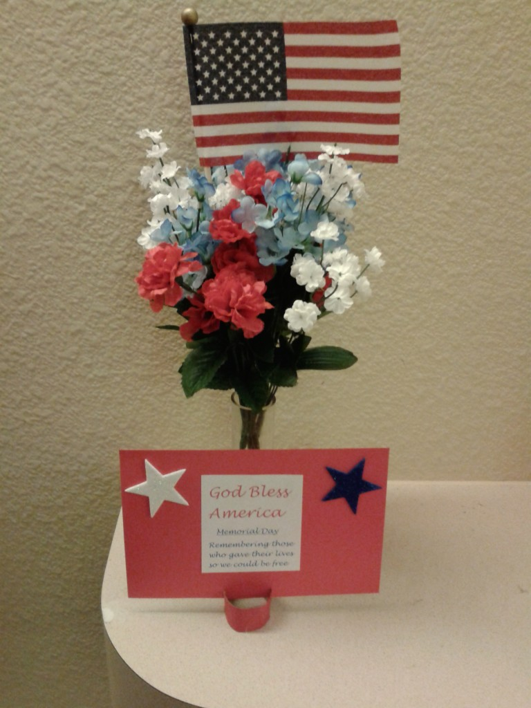 Memorial Day craft and flowers