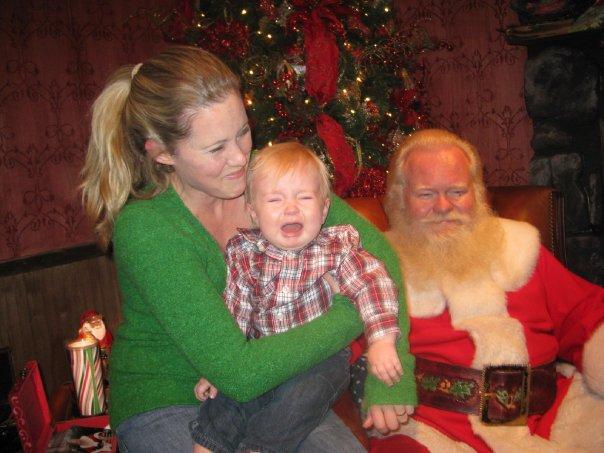 Crying at Santa